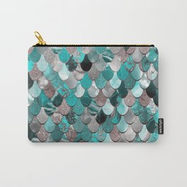 Mermaid, Sea Reflections, Teal Grey Carry-All Pouch