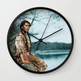 Ponemah by the Lake - Ojibwe Woman - American Indian Wall Clock