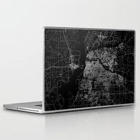 memphis Laptop & iPad Skins featuring Memphis map by Line Line Lines