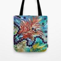 big bang Tote Bags featuring Big Bang by Art of Leki