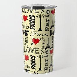 Paris text design illustration Travel Mug