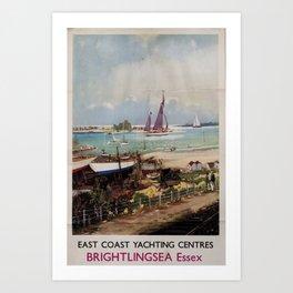 classic poster Brightlingsea Essex Art Print