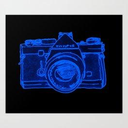 Yellow Camera Art Print