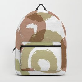 Brush Spirals Mushroom and Gum Leaf Green Backpack