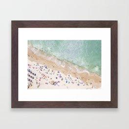 Pastel Beach Framed Art Print