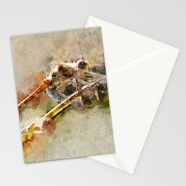 "Dragonfly ""Sympetrum striolatum"" - watercolor Stationery Cards"