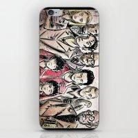 the royal tenenbaums iPhone & iPod Skins featuring The Royal Tenenbaums by Joe Badon
