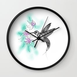Purple November Wall Clock