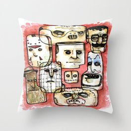 Oh The Horror Throw Pillow