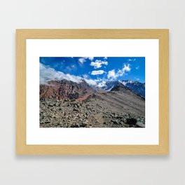 Hiking Cordon Del Plata Framed Art Print