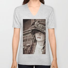 Victorian Mannequin Unisex V-Neck