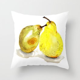 A Pair of Pears Throw Pillow