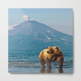 The bear under the volcano Metal Print
