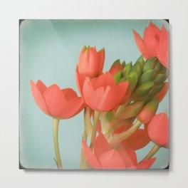 Coral Flowers Metal Print