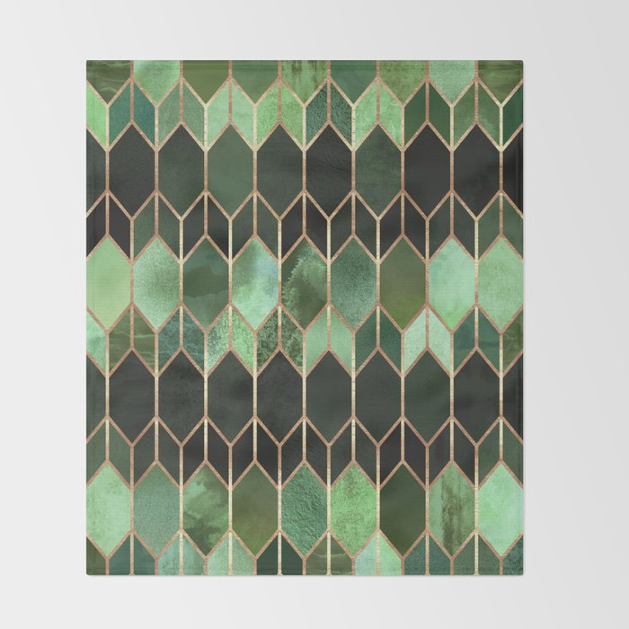 Stained Glass 40 Forest Green Throw Blanket By Elisabethfredriksson Awesome Forest Green Throw Blanket