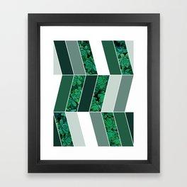 Green Herringbone #society6 #green #succulent Framed Art Print