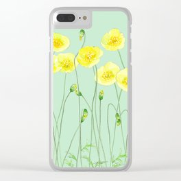 Yellow Wildflowers II Clear iPhone Case