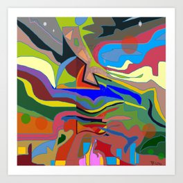 Color Theory of the Firmanent - accepted. Art Print