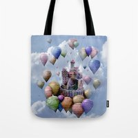 castle Tote Bags featuring Sweet Castle by teddynash