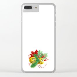 Christmas bells Clear iPhone Case