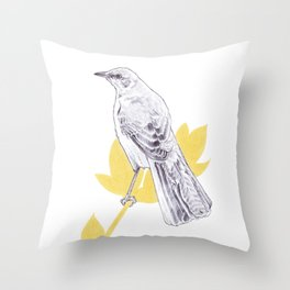 Mockingbird Song Throw Pillow