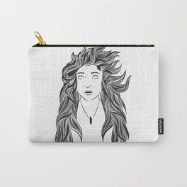 Wind and Hair Carry-All Pouch