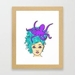 Mermaid Hair Framed Art Print