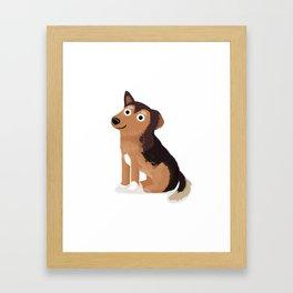 """Custom Dog Art """"Izzy"""" Framed Art Print"""