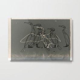 Agitation Metal Print