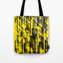 abstract composition in yellow and grays Tote Bag
