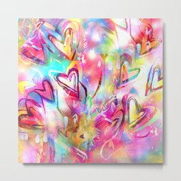 Bursting Hearts Metal Print