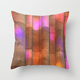 stained-glass reflection Throw Pillow