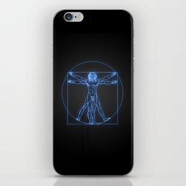 Neon Vitruvian Man iPhone Skin