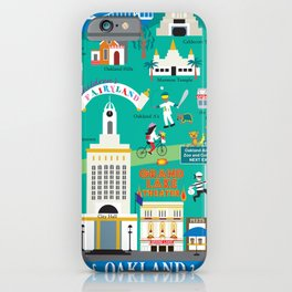 Oakland, California - Collage Illustration by Loose Petals iPhone Case