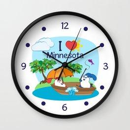 Ernest and Coraline | I love Minnesota Wall Clock