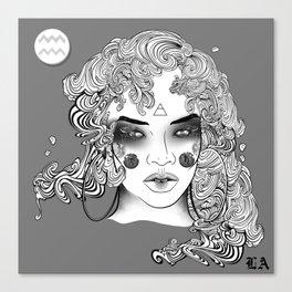Extra Terrestrial Aquarius Goddess Canvas Print