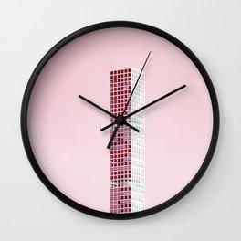 Pink Pillar Wall Clock