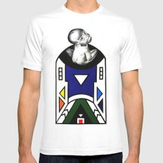 NDEBELE White Mens Fitted Tee MEDIUM