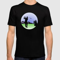 golfer Black MEDIUM Mens Fitted Tee