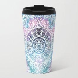 Galaxy Mandala   Boho Watercolor Travel Mug