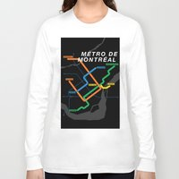 montreal Long Sleeve T-shirts featuring Montreal Metro by Coconuts & Shrimps