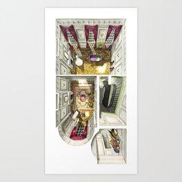 PHANTOM THREAD. First level of the London House Art Print