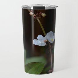 White flowers of aquatic plants Travel Mug