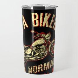 I Am A Biker Dad print -Motorcyle Riding Gift For Mens Travel Mug