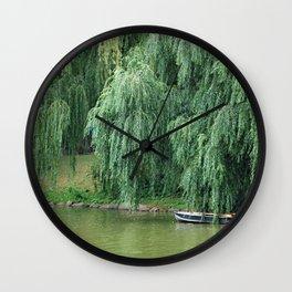 Lakeside Boat Wall Clock