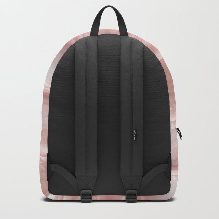Geode Crystal Rose Gold Pink Backpack