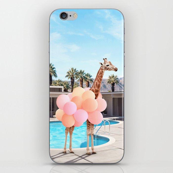 Giraffe Palm Springs iPhone Skin