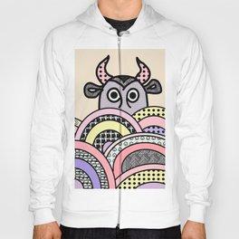 bull on pastel background Hoody