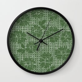 Floral Lace - Sage Wall Clock