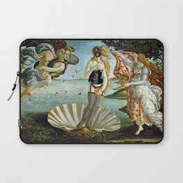 The 2nd Birth of Venus, Part Deux, in All Get-up satrical landscape painting by Sandro Botticelli Laptop Sleeve